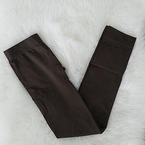 Dark brown seamless leggings
